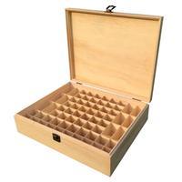 68 Grid Wooden Essential Oil Box Holder Essential Oil Bottle Storage Case Solid Wood Gift Box Aromatherapy Bottles Storage Box