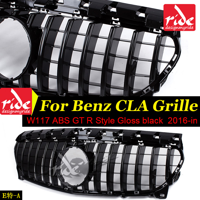 W117 GT R Style ABS Gloss Black Without emblem Front Bumper Grille For MercedesMB CLA Class CLA180 CLA200 CLA250 CLA45 2016 in-in Racing Grills from Automobiles & Motorcycles    1