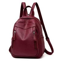 High Quality Leather Backpack Woman New Arrival Fashion Female Backpack Chest Bag Large Capacity School Bag Mochila Feminina