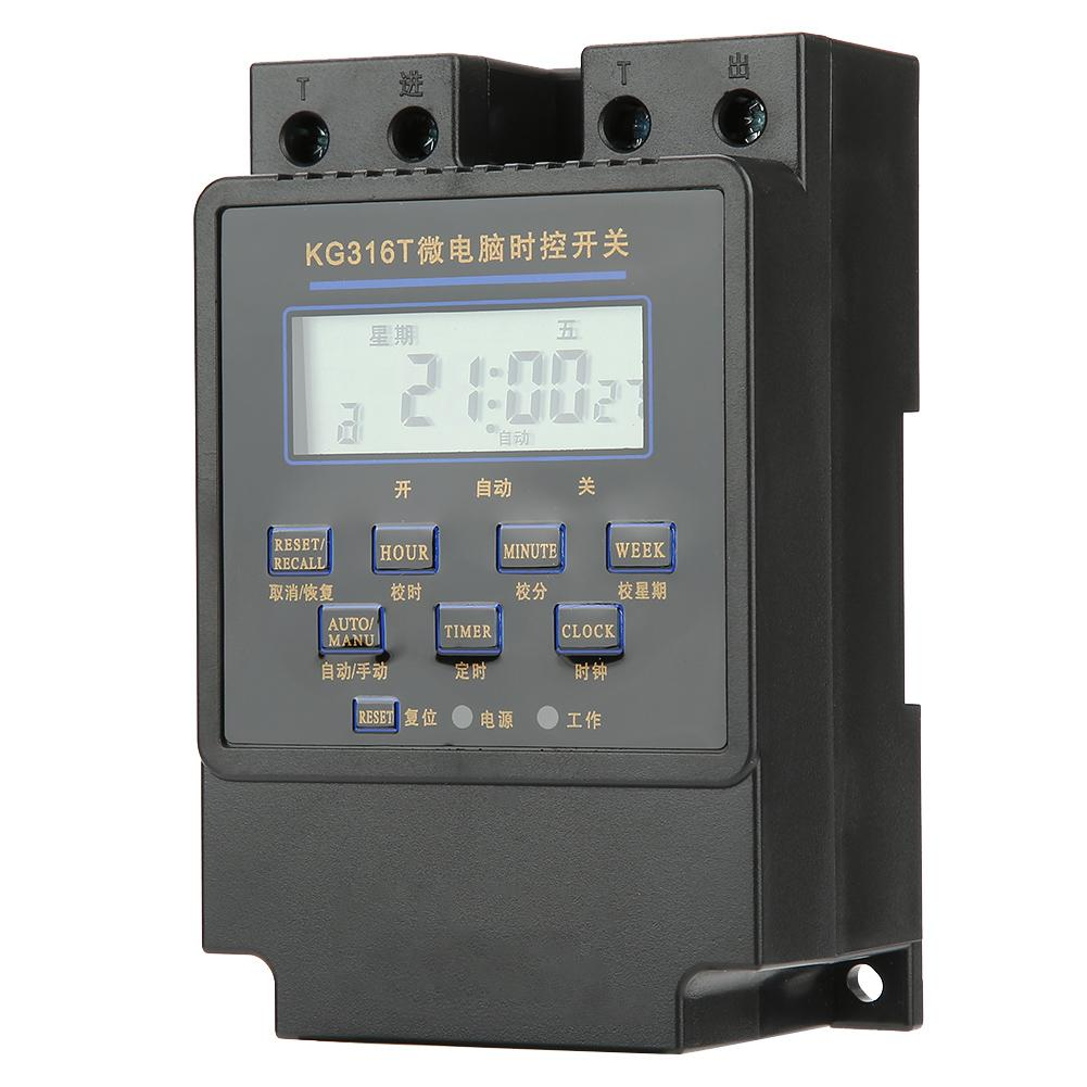 DemüTigen Kg316t-b Mikrocomputer Timer Schalter Digital Lcd Programmierbare Zeit Steuerung Schalter Timer Schnelle WäRmeableitung Timer Messung Und Analyse Instrumente