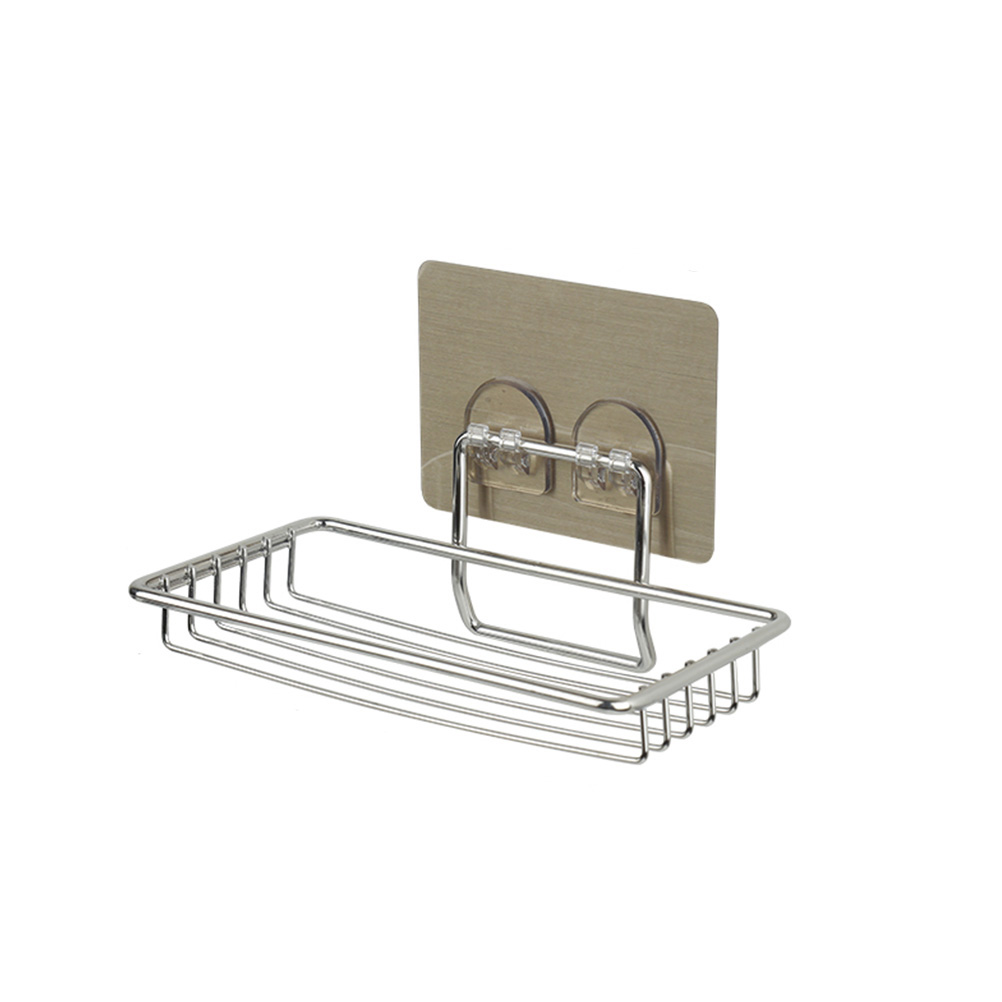Soap Tray Wall Mount Stainless Steel Soap Dish Holder For Bathroom Kitchen Shelf