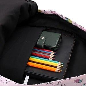 Image 5 - Deanfun mochila para meninas unicórnio à prova de água flamingo diamante padrão mochilas saco escolar adolescente 80043