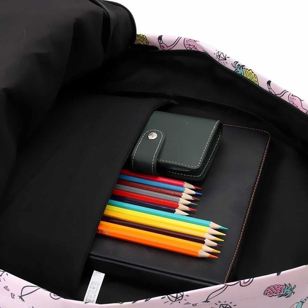 Deanfun рюкзак для девочек с единорогом водостойкий Фламинго Алмазный Узор рюкзаки Подростковая школьная сумка 80043