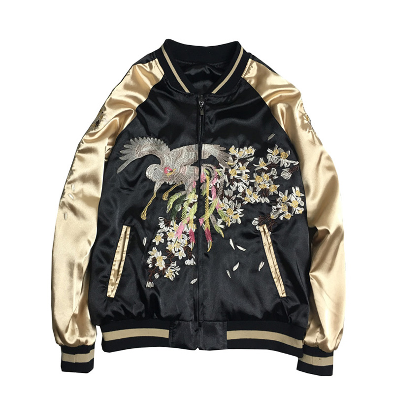 LYFZOUS New Black Embroidery   Jacket   Casual Loose Female   Basic     Jackets   Coat Chic Women Spring Autumn Bomber   Jacket   Unisex Tops