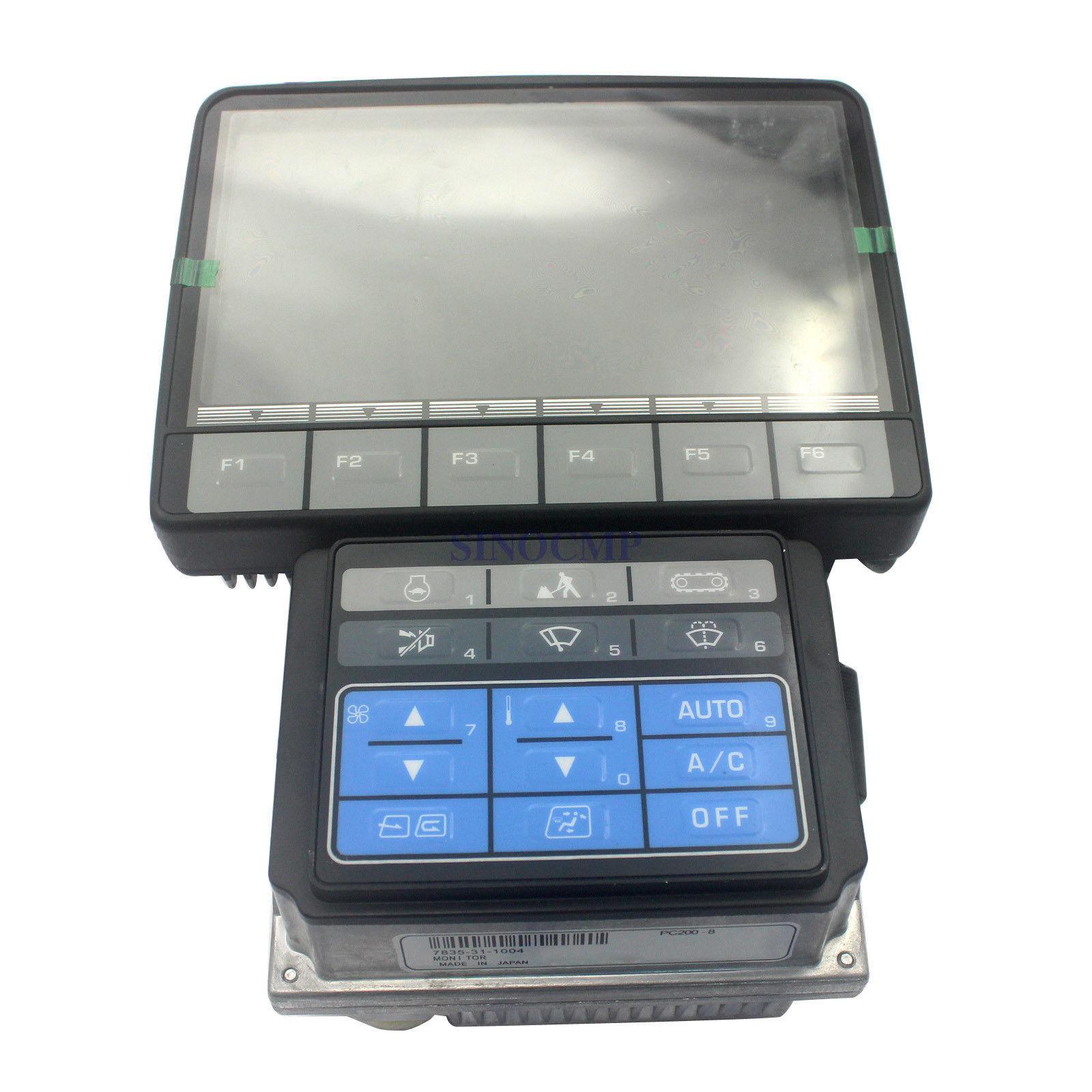 PC200-8 PC220-8 Monitor Display Panel 7835-31-1000 7835-31-1001 for Komatsu Excavator, 1 year warranty connector plug fits komatsu pc200 8 pc 8 excavator controller 7835 46 1007 3 month warranty