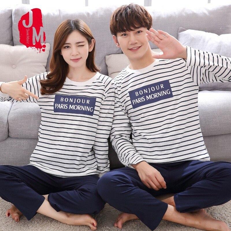 O-neck Sleepwear Men Long Sleeve Cotton Winter Sleepwear Men Casual Cartoon Pajamas Male Full Cotton Pyjama Male 4xl Solid Sleep