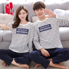 O-neck Sleepwear Men Long Sleeve Cotton Winter Casual Cartoon Pajamas Male Full Pyjama 4xl Solid Sleep