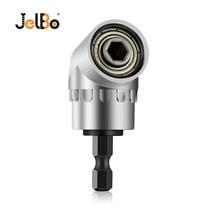 цена на JelBo Black/Silver 105 Degree Angle Extension Right Driver 1/4 Inch Magnetic Hex Drill Bit Socket Screwdriver Holde