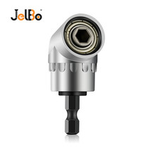 JelBo Black/Silver 105 Degree Angle Extension Right Driver Magnetic 1/4 Inch Hex Drill Bit Socket Screwdriver Holder jelbo 105 degrees right angle adapter drill bits with 1 4 hex shank driver extension power for screwdriver holder tools