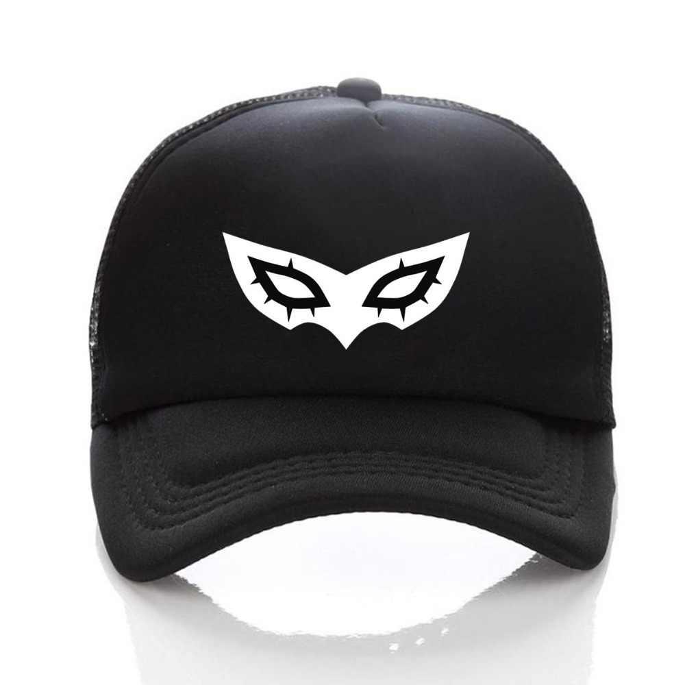 ... Game Persona 5 hat Printing Baseball Cap Cosplay Hip Hop Unisex  Adjustable Summer Snapback Men s DIY ... 847cff73b58