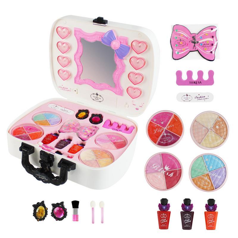 14-Pack Coffre-Fort Non-toxique soluble dans L'eau Éclairage Maquillage de Cosmétiques Set de Jouets Pour Enfants Cadeaux Fille Maquillage rêve Princesse Maison de Jeu