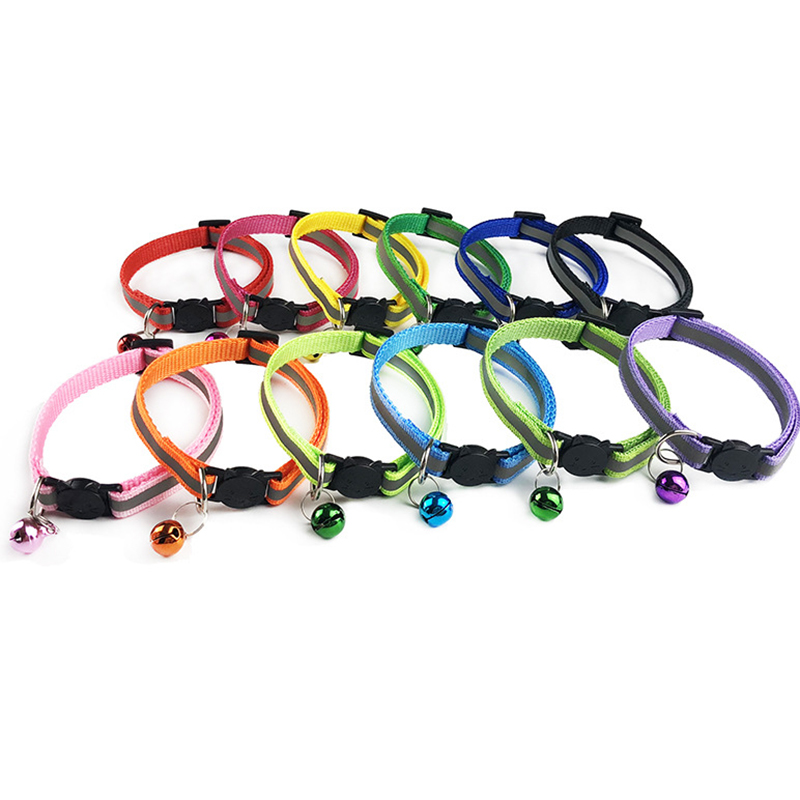 Adjustable 1.0 Nylon Dog Collars Pet Collars With Bells Charm Necklace Collar For Little Dogs Cat Collars Pet Supplies Hot Sale #4