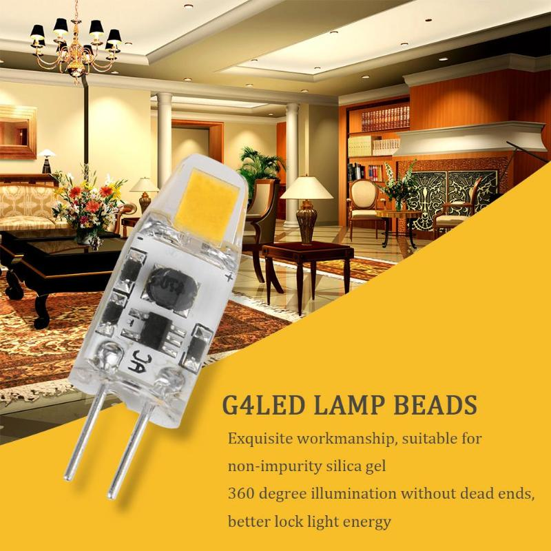 G4 LED COB Bulb Silicone Lights 360 Degrees AC/DC12V Warm White Lamp for Hotel Bedroom