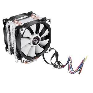 Image 2 - Bonhomme de neige 4PIN refroidisseur de processeur 6 caloduc Double ventilateurs refroidissement 12cm ventilateur LGA775 1151 115x1366 prise en charge Intel AMD
