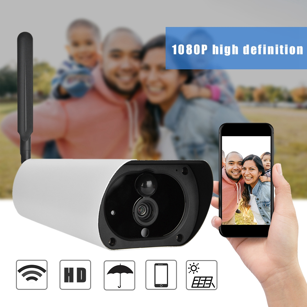 4G Solar Powered 1080P HD Camera Outdoor Waterproof CCTV Night Vision Security Camera 2019