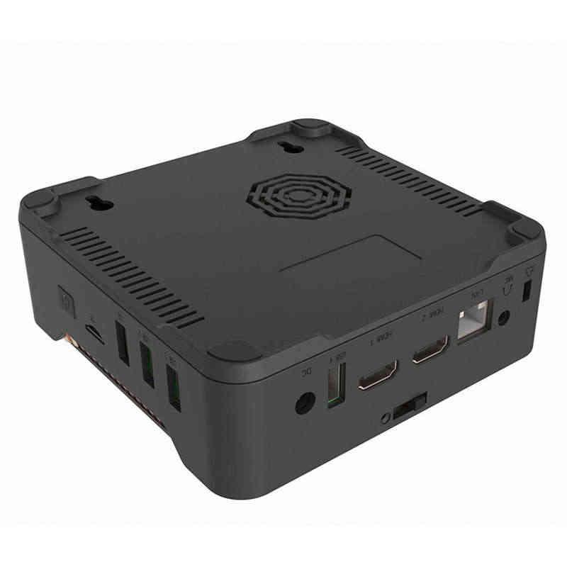 Mini Gói Tin MÁY TÍNH Intel Quad Core J3455 Vi Máy Tính Daul HDMI lên đến 2.3GHz Windows 10 4G DDR EMMC Mini PC