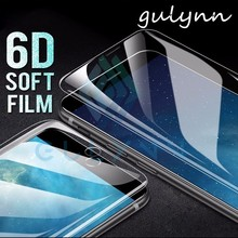 6D Soft Full Cover Screen Protector For iPhone 6 7 8 Plus X XR XS Max Hydrogel Film 6S Not Tempered Glass
