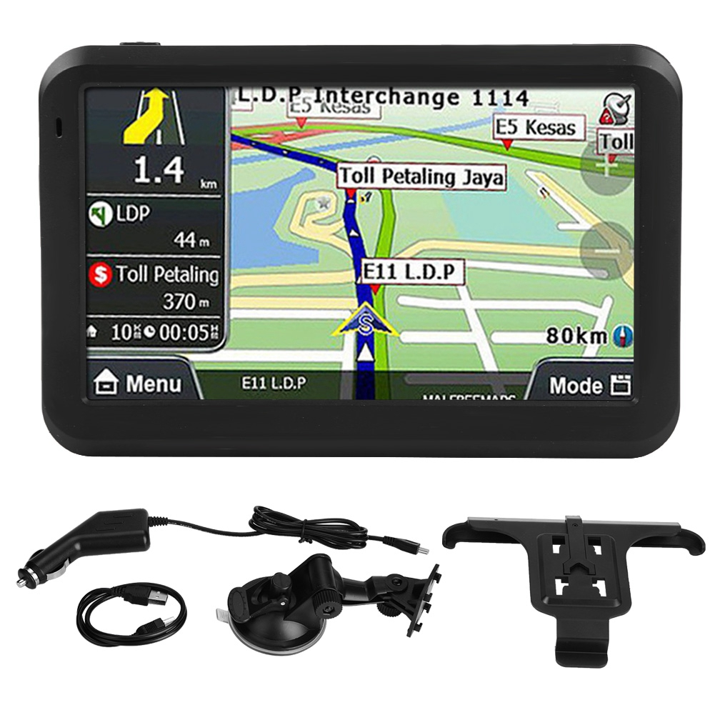 GPS Navigation 5inch Touch-Screen Automobiles Universal 256MB 8GB Accesorios W/back-Clip