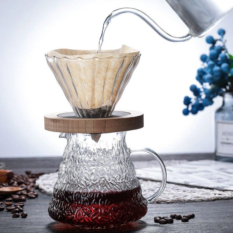 Gotejador Café Pote de Vidro Resistente Ao calor Para V60 Hario Gotejamento Chaleira Garrafa de Água Jarro Despeje Sobre Café Barista Criativo Café fabricante