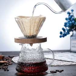 Heat Resistant Glass Coffee Dripper Pot For Hario V60 Drip Kettle Water Bottle Barista Pour Over Coffe Jug Creative Cafe Maker