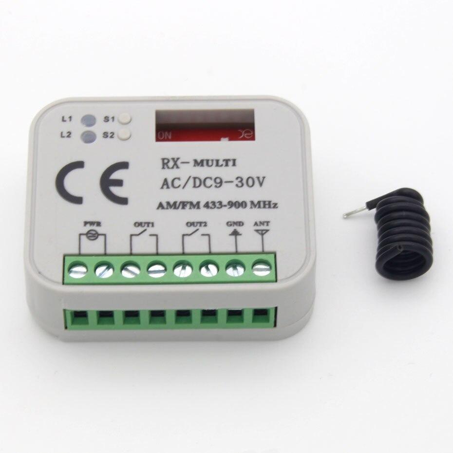 Besorgt Universal Elektrische Garage Tür Controller Empfänger 433,92 Zu 900 Mhz Sommer Faac Hormann Nizza 868,3 Mhz Tür Empfänger Controller ZuverläSsige Leistung