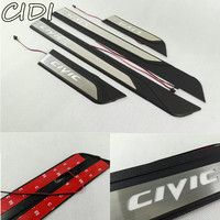 Car Styling FIT for HONDA CIVIC 2016 2017 LED Door Sill Scuff Pedal Door Step light Welcome Pedal Automobile Accessories