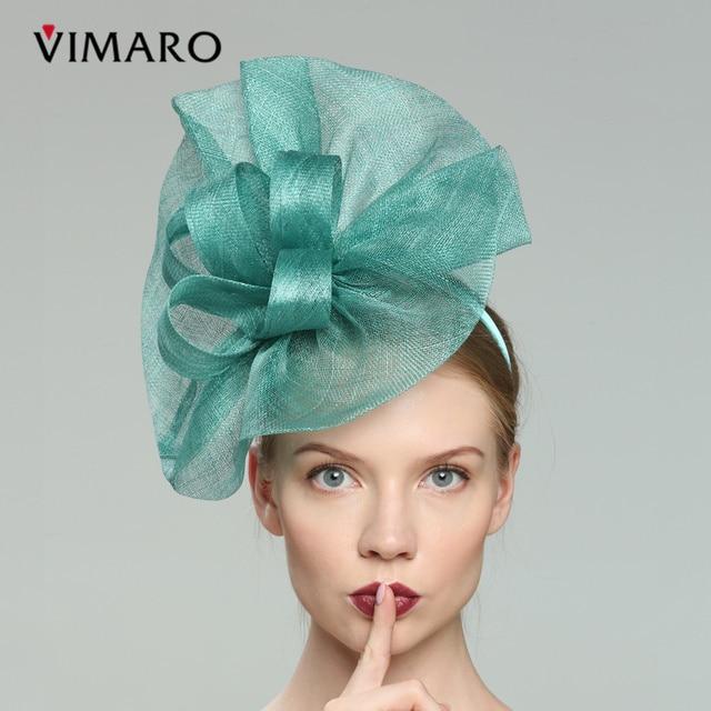 5a56f068 VIMARO Teal Hair Fascinators Hats For Women Elegant Fascinators For Weddings  Hats And Fascinators Hair Accessories Headbands