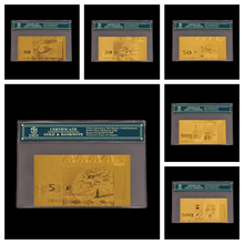 Gold Banknotes Latvia Note-Currency-Paper Coa-Frame with 6pcs/Lot Complete-Set Lats Riyals