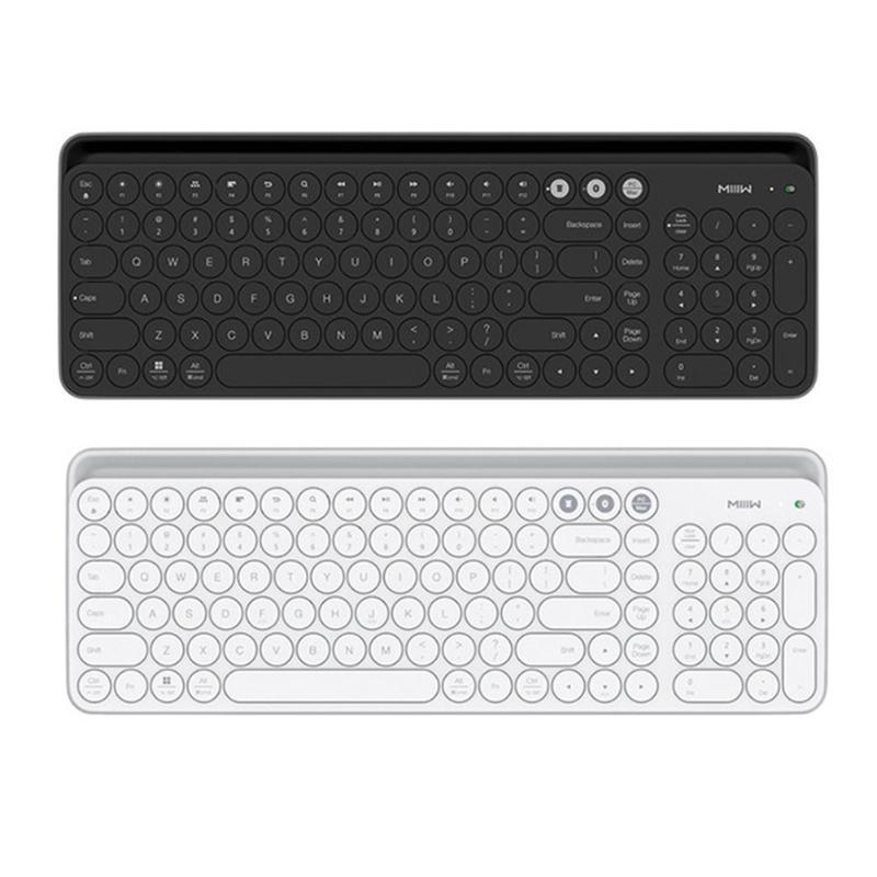 5709b41b076 Xiaomiyoupin MIIIW Wireless Keyboard 2.4GHz+Bluetooth 102 Keys Round  Keycaps Keyboard