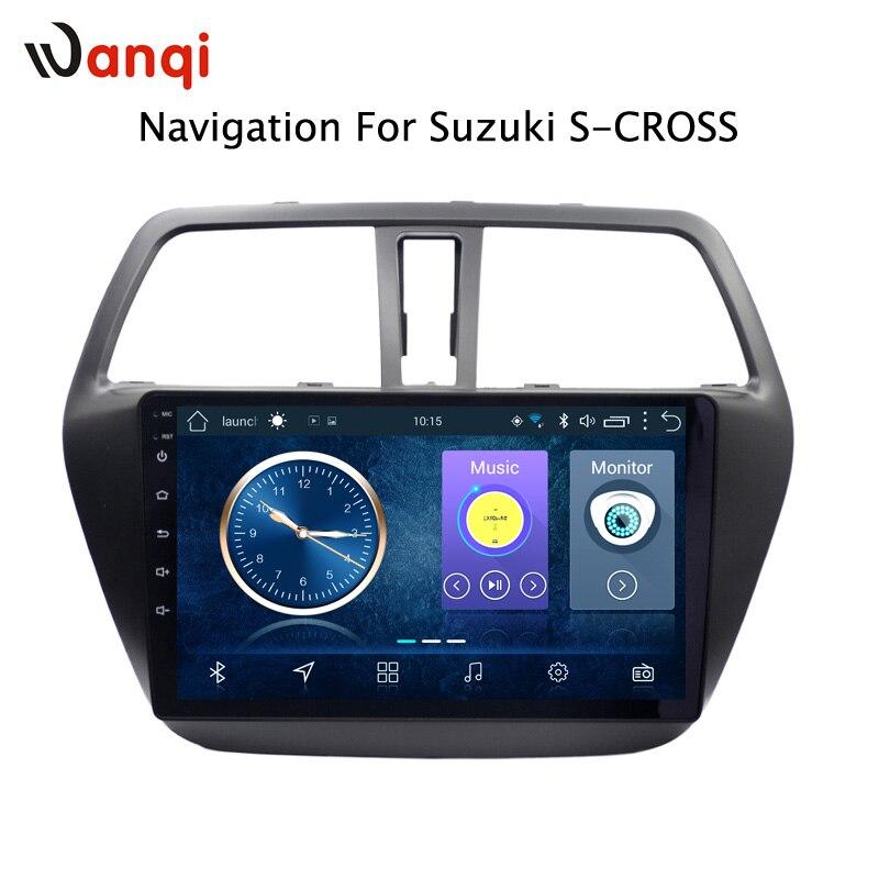 Android 8.1 de navegação do carro da polegada para Suzuki S-CROSS 9 2014-2017 apoio Wifi SWC OBD câmera traseira
