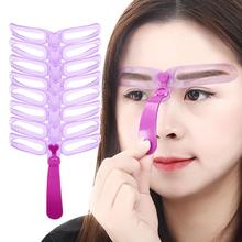 BellyLady 8pcs/set Eyebrow Stencils Shaping Grooming Eye Brow Model Template Eyebrows Styling Tool