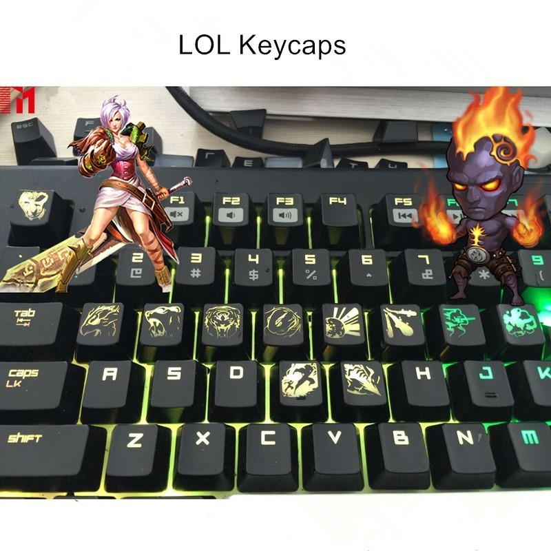 Custom LOL Hero Skill And Head Portrait Keycap Personality Translucent Mechanical Keyboard Key Caps