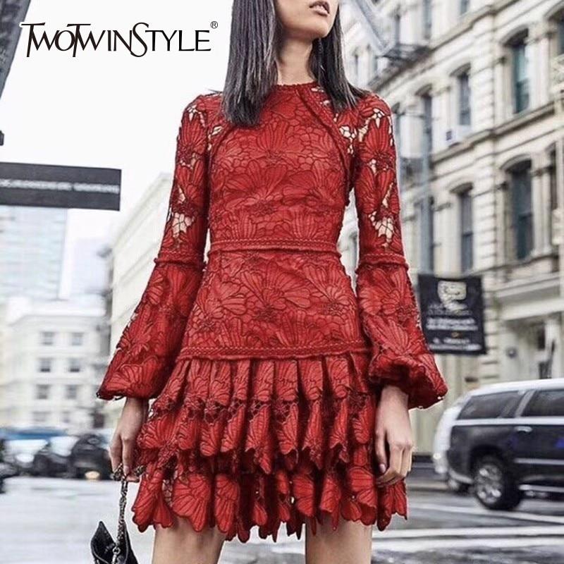 TWOTWINSTYLE High Waist Mini Dress TDR17442