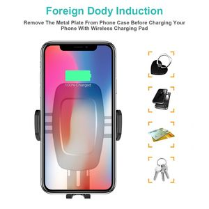 Image 4 - Bakeey 10W Automatic Sensor Car Qi Wireless Charging pad universal Charger phone Car holder Mount for Samsung for iPhone Xiaomi1