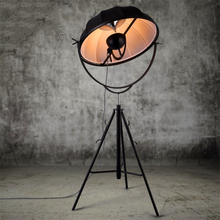Nordic LOFT Floor Lamps Stand Light Classic Photography Satellite Shape Photo Studio Living Room Lights