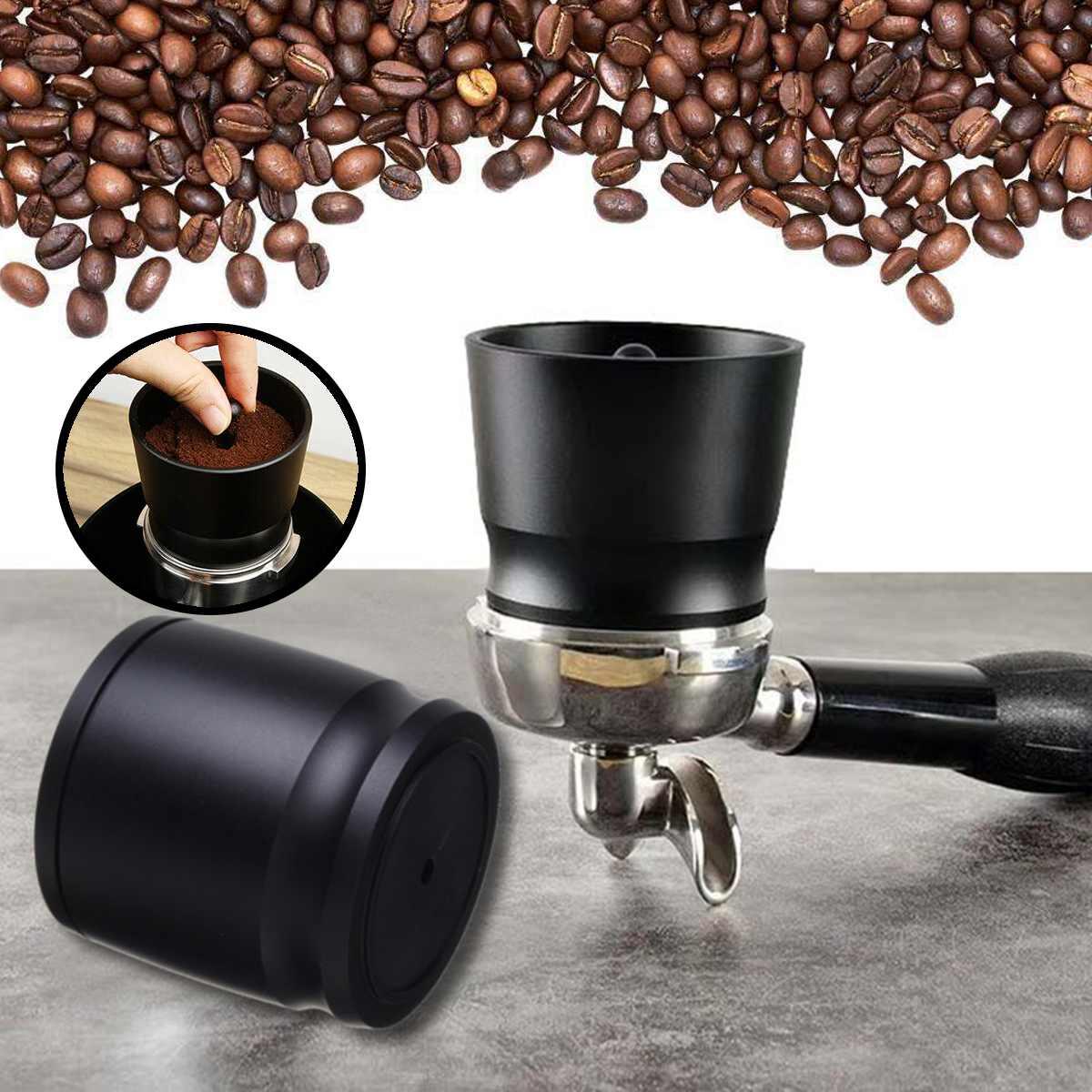 Aluminium doseur anneau poudre chargeur pour brassage café inviolable broyeur pièces cuisine outil Barista café outils Coffeeware noir