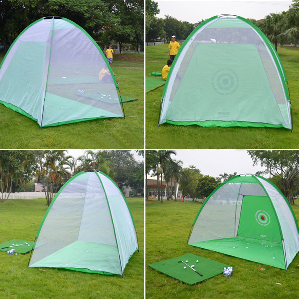 2*1.4m Golf Training Net Golf Practice Nets Indoor Outdoor Garden Training Portable Golf Practice Tent Golf Training Equipment-in Golf Training Aids from Sports & Entertainment