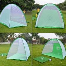 купить 2*1.4m Golf Training Net Golf Practice Nets Indoor Outdoor Garden Training Portable Golf Practice Tent Golf Training Equipment дешево