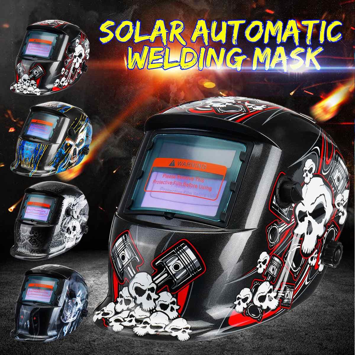 Solar Automatic Photoelectric Welding Mask Helmet Welding Solar Power Welding Helmets Adjustable Headband