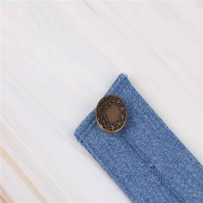 0f8a7ecca ... 1 unid hombres mujeres ajustable Jeans Denim extensor de extensión  cintura botón Extender para pantalones de ...