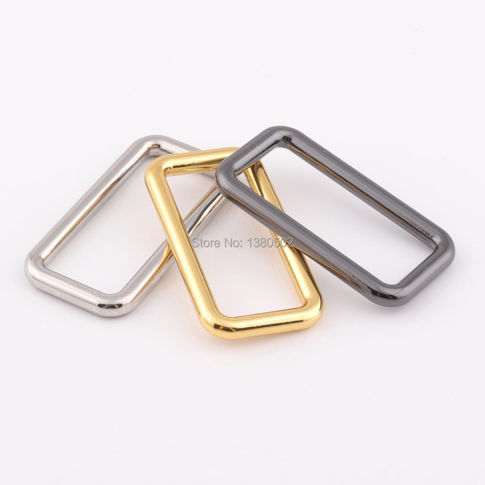 Home & Garden Steady 10pcs/lot 40mm Inner Durable Silver /gold /black Color Rectangle Metal Buckles For Backpack Straps Webbing Bag Accessories Clear-Cut Texture Buckles & Hooks