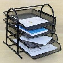 4 слоя сетки файл держатель Подставка для зарядки Органайзер лоток для журнала письмо Бумага документ Офис письменный стол