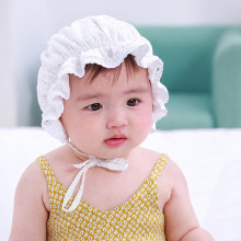 2019 Summer Baby Girl Cotton Lace Hat Bucket Hat Cap Bonnet Newborn Photography Props Baby Accessories(China)