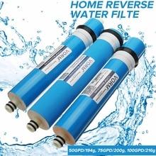 50/75/100/125GPD домашняя кухня обратного осмоса Мембрана RO замена системы воды фильтр очиститель воды система фильтрации воды
