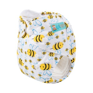 Image 1 - 100 PCS 2019 New Alva One Size Fits All Reusable Nappies in China Free Shipping