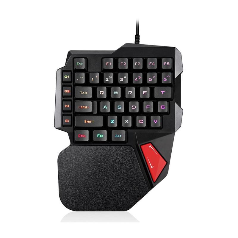 1 Set Usb Verdrahtete Hintergrundbeleuchtung Gaming Tastatur K108 38 Tasten Einhand Links Hand Tastatur Keycap Für Pc Laptop Desktop Requisiten