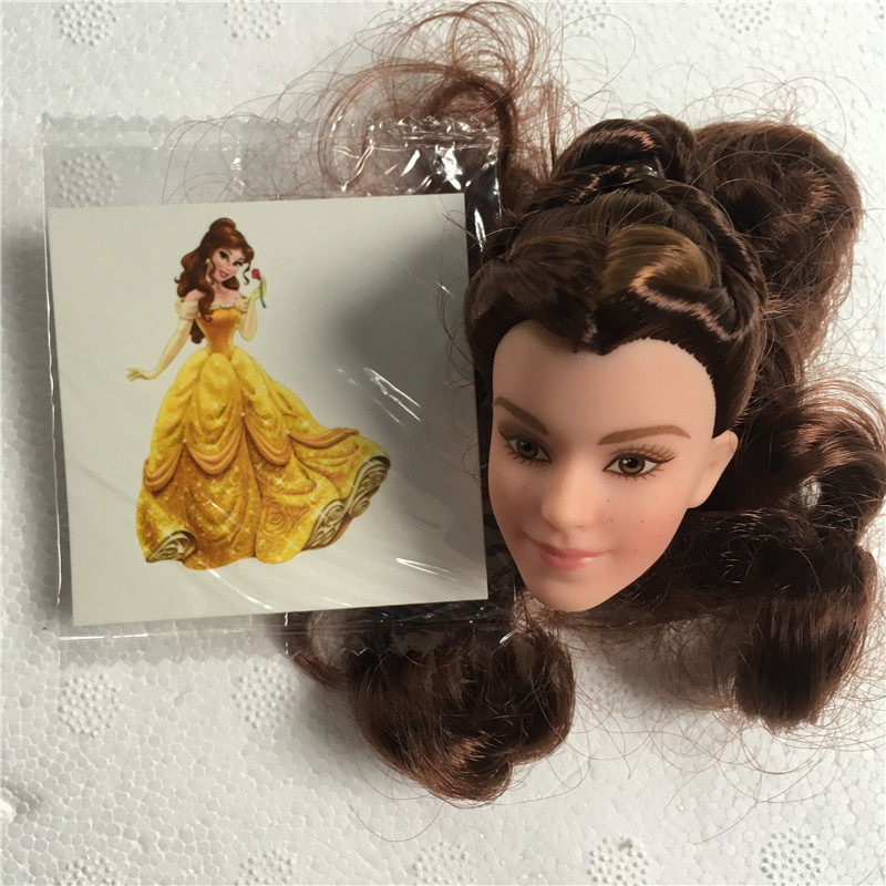 Us 3 43 14 Off Belle Doll Toy Head Long Hair Princess Doll Head Girl Diy Make Up Dressing Hair Toys Kids Makeup Diy Toy Children Birthday Gifts In