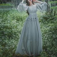 Vintage Elegant Lady Lolita Retro Princess Dress Mori Girl Fairy Dresses S/m/l