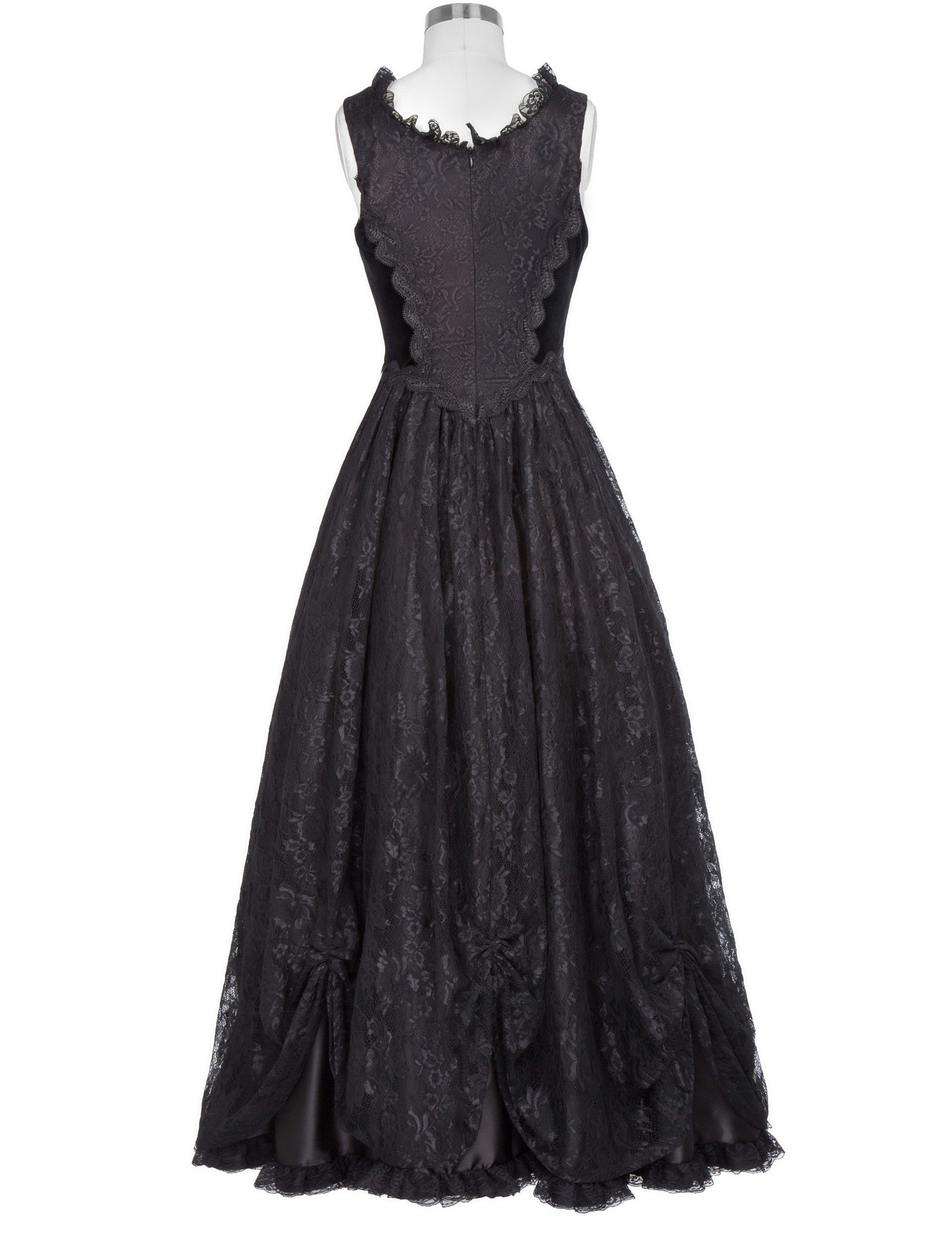 Victorian Edwardian Prom Gown Gothic Theater Steampunk Lace &Satin Dress Gifts