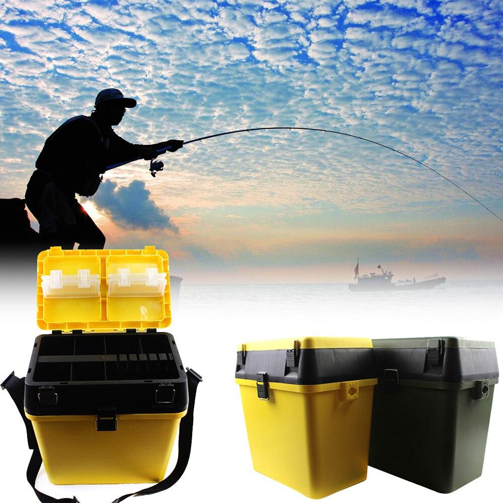 Boîte de pêche 2 couleur carpe boîte de pêche léger pour poisson leurre ligne crochet accessoires de pêche